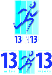 13 in 13 Running Logo